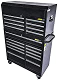 JEGS 81463K Steel Rolling Tool Cabinet and Tool Chest Kit 11-Drawer Bottom & 8-D