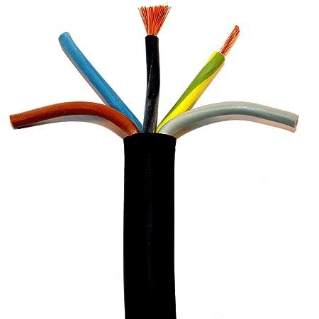H05RR-F 5x1,5mm² Gummischlauchleitung schwarz 50 Meter Ring