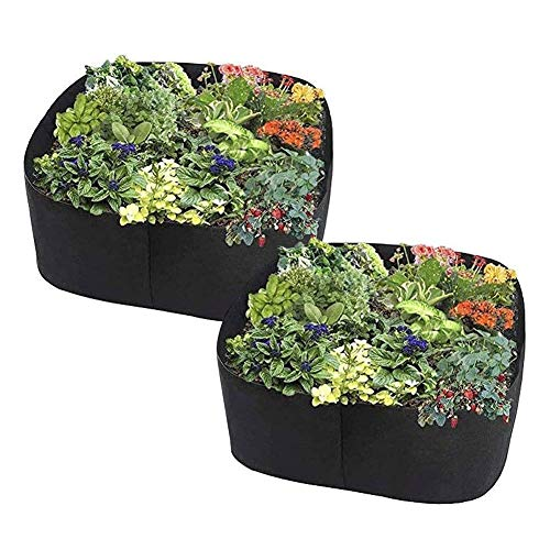 HCFSUK Garden Growing Bags Bed Square for Vegetables Flowers Raised Fabric Raised Vegetable Planter Bed Square Garden Growing Bags Aeration Fabric Potato Tomato Stand