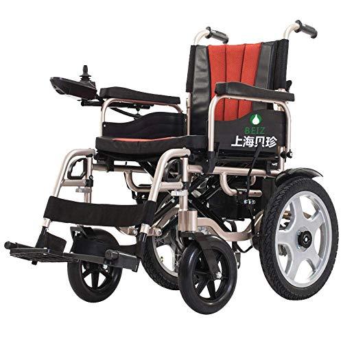 TYT Patinete eléctrico para silla de ruedas, silla de enfermería plegable ligera y duradera de aluminio para discapacitados con batería de litio para ancianos,Batería de litio 30a