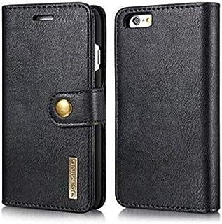 DG MING Genuine Cowhide Leather Wallet Cases Magnetic Detachable Card Slots Phone Fo