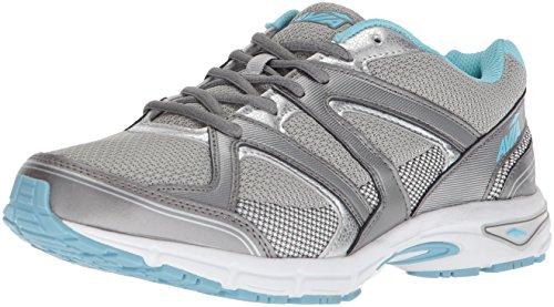 Avia Women's Avi-Execute-II Running Shoe, Chrome Silver/Metallic Grey/Topaz Blue, 11 W US