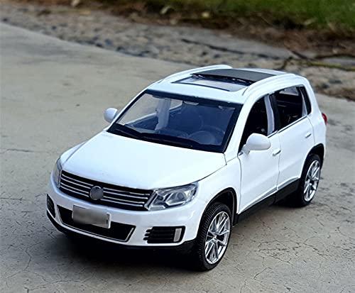 CHGDFQ Coche modelo coche 1:32 Ti-Guan L de la aleación de la simulación de vehículos fuera de la carretera Adornos de juguete de fundición a presión de los deportes Joyería de colección de autos depo
