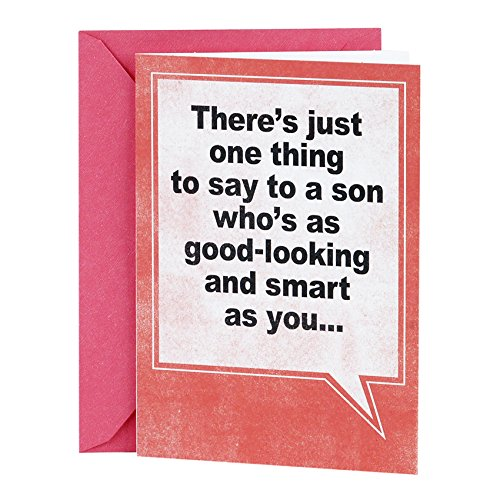 Hallmark Shoebox Funny Birthday Card for Son (Good Looking Joke)