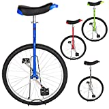 T4B Freestyle Unicycle 24-Inch Wheel - Leakproof Butyl Wheel Tire - Outdoor Sports Fitness Exercise Health - Blue