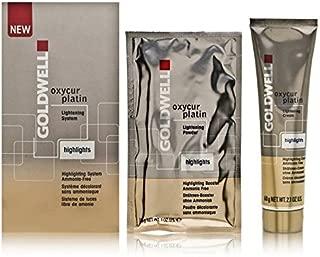 Goldwell Oxycur Platin Lightening System Highlights Kit Includes: 1 x 2.1 oz Tube Highlighting Cream + 2 x 1.0 oz Sachets Highlighting Booster