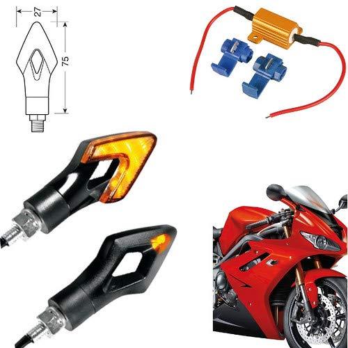 90470 + 61 Paire Clignotants LED Moto Honda NC 750 X DCT ABS indicateurs Direction résistance homologuées universels Moto Noires