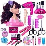 Dittzz Cabeza para Maquillar y Peinar, Juguetes de Belleza y Peluqueria con Accesorios,Regalo para Niños