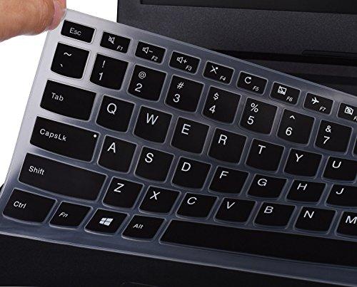 Keyboard Cover for Lenovo Yoga 710 14 14', Yoga 710 15 15.6', Flex 4 14', ideapad 110 14', ideapad 310s 14', ideapad 510s 14' US Layout (Black)