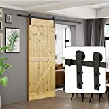 U-MAX 6 Ft Sliding Barn Door Hardware Kit -Heavy Duty Sturdy, Smoothly and Quietly -Easy to Install - Fit 36'-40' Wide Door Panel (I Shape Hanger)