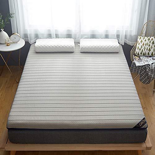 100% Naturlatex-Matratze, atmungsaktiv, super weich, faltbar, Tatami Matratze für Einzelbett, Doppelbett, Schlafzimmer für Gästehandzimmer für Kinder Queen:150x200cm grau
