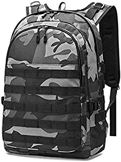 Tactical Laptop Backpack Military PUBG Level 3 Backpacks College School Bag for Camping Trekking Hunting Survival Rucksack (Black)