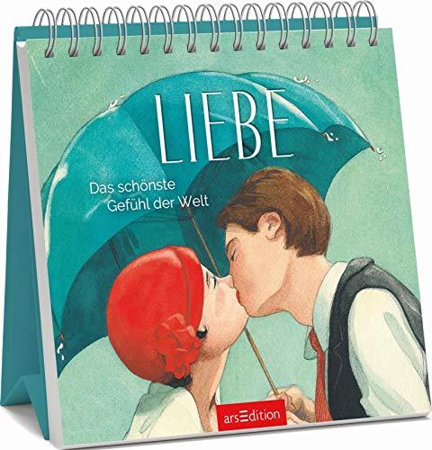 Liebe - Das schönste Gefühl der Welt: Aufsteller mit Zitaten über Liebe, Geschenk Hochzeit, Valentinstag, Jahrestag