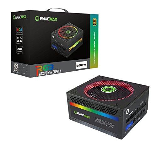 Game Max RGB-850 Alimentatore, Nero