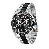 SECTOR Herren Chronograph Quarz Uhr mit Edelstahl Armband R3273794005