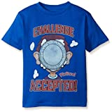 FREEZE Boys' Little Boys' Pie Face the Game Challenge Accepted Short Sleeve T-Shirt, Royal, Medium-5/6
