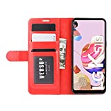 DAMAIJIA für LG K51S Hüllen Klapphülle PU Leder Silikon Wallet Schutzhülle Schutz Mobiltelefon Flip Back Cover für K51S LG K41S K 51S K 41S 2020 Tasche Handy Zubehör (red)