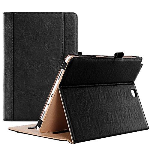 ProHülle Hülle für Galaxy Tab A 9,7 - Standing Cover Folio Hülle für 2015 Galaxy Tab A Tablet (9,7 Zoll, SM-T550 P550), mit Mehreren Blickwinkel, Auto Sleep/Wake, Dokumenten-Karte Tasche (Schwarz)