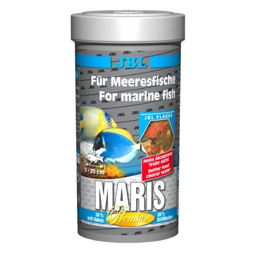JBL Maris 31020 Alleinfutter für Meerwasserfische, Flockenfutter 250 ml