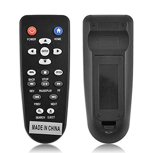 Zerone Mando a distancia de repuesto para reproductor multimedia WDTV, mando a distancia universal de repuesto para reproductor de medios WDTV digital Western WDTV001RNN