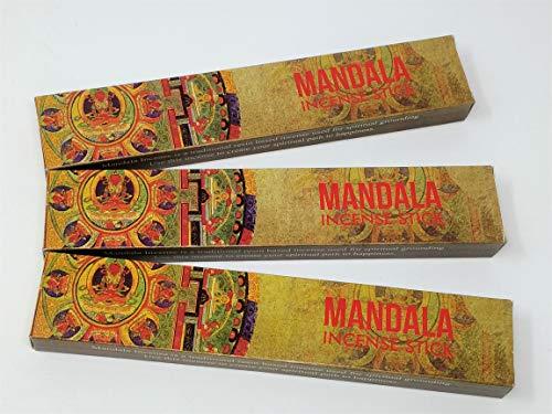 3 X Mandala NEUF Lune Bâtons d'encens avec gratuit souvenir badge par Sterling Effectz