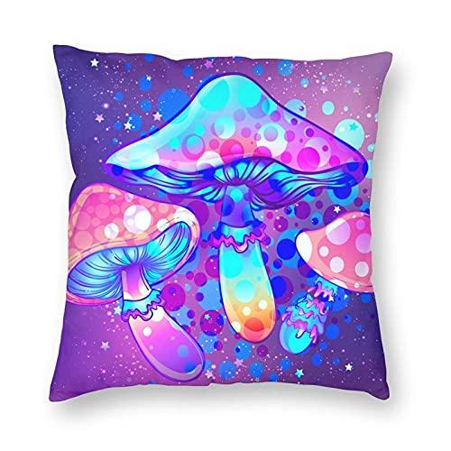 Funda de almohada psicodélico con diseño geométrico psicodélico, 45,7 x 45,7 cm, cuadrada, suave, para decoración del hogar, sofá