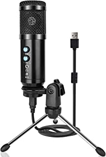 Sponsored Ad - USB Microphone Metal Condenser Recording Microphone for Laptop Mac or Windows Computer Microphone Recording...