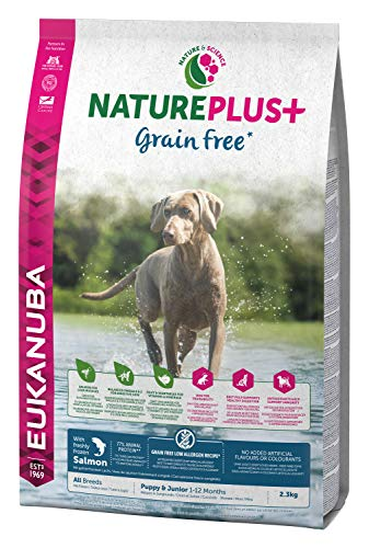 EUKANUBA NaturePlus+ Sin grano Cachorro y Junior Con salmón fresco congelado [10 kg]