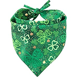 KZHAREEN St. Patrick's Day Dog Bandana Reversible Triangle Bibs Scarf Accessories for Dogs Cats Pets