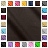 1buy3 'Serena - wasserabweisender Vorhängestoff Gardinenstoff Outdoor - Dunkelbraun
