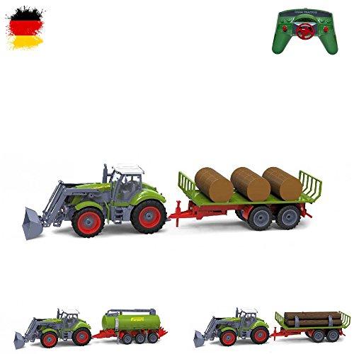 Riesenr XXL RC ferngesteuerter Traktor mit Anhänger Trecker*