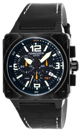 Torgoen Swiss Herren T27101 T27 Chronograph Black Ion-Plated Aviation ansehen