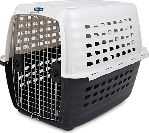 Petmate 41035 Compass Fashion Kennel Cat and Dog Kennel, 50-70 lb., Pearl White/Black