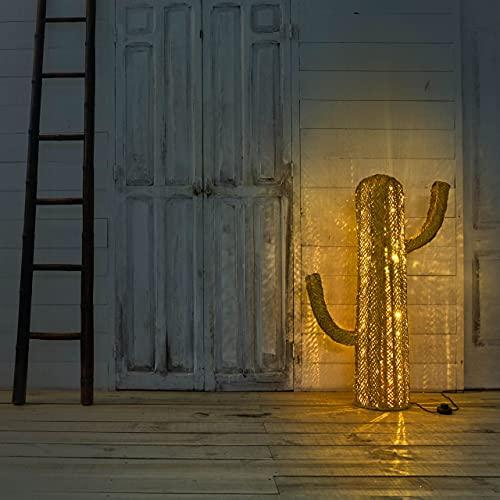 Cactus de espato lámpara de pie de led para Exteriores e Interiores, decoración jardín y terraza, Adornos para salón, luz led Ambiente (105 cm)
