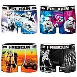 FREEGUN Star Wars - Calzoncillos tipo bóxer para hombre, diseño de Darth Vader Imperator, 4 unidades, tallas S, M, L, XL y XXL Diseño 4 M