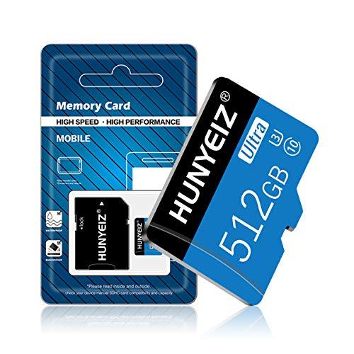 Micro-SD-Karte, 512 GB, Klasse 10, High-Speed, Micro-SD, SDXC-Karte, Speicherkarte mit SD-Adapter (512 GB)