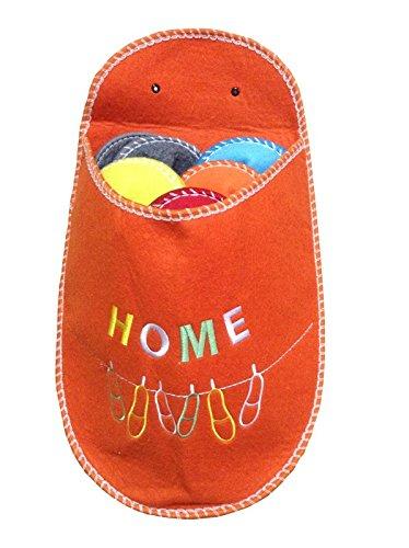 AVANTI TRENDSTORE - Guest - Set Pantofole, 5 Paia in Diversi Colori e Misure, la Borsa è Disponibile in Diversi Colori (Arancione)
