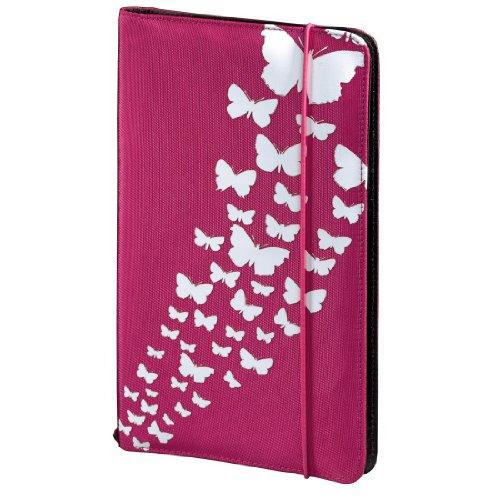 Hama CD Tasche Up to Fashion (für 48 Discs, CD / DVD / Blu-ray / Hörbücher, Mappe zur Aufbewahrung, platzsparend für Auto und Zuhause, Mit Schmetterlingsmotiv) Pink