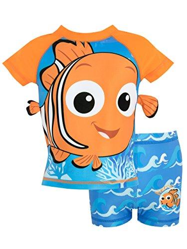 Disney Bañador de Dos Piezas para niño Buscando a Nemo Azul 6-7 Años