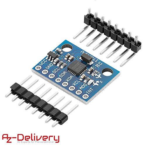 AZDelivery GY-521 MPU-6050 Poussette à 3 Axes et capteur d'accélération pour Arduino y compris un eBook
