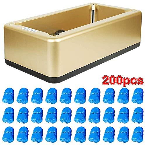Máquina de cubierta de zapatos para el hogar, dispensador automático ligero antideslizante con 200 fundas de zapatos de plástico grueso