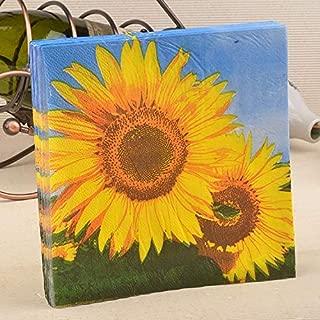 Party Sunflower Wedding Paper Napkins 100 Pcs 20 pcs Sunflower Napkin Tissue Paper 100% Virgin Tissue for Wedding Party Decoration