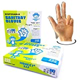Disposable Gloves–3-Finger Vinyl Gloves for Home and Restaurant-200 PiecesⅩ2