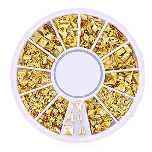 isuper Beauté 200 comptage/3d Pack Mini Nail Art Nail Supplies Stud stickers Glitter métal avec Charme de mode de bricolage ongles décoration irrégulière figurine Series