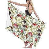 Toallas de baño con patrón de setas, toalla de playa, piscina, manta de secado rápido, alfombra de natación, 80 x 130 cm
