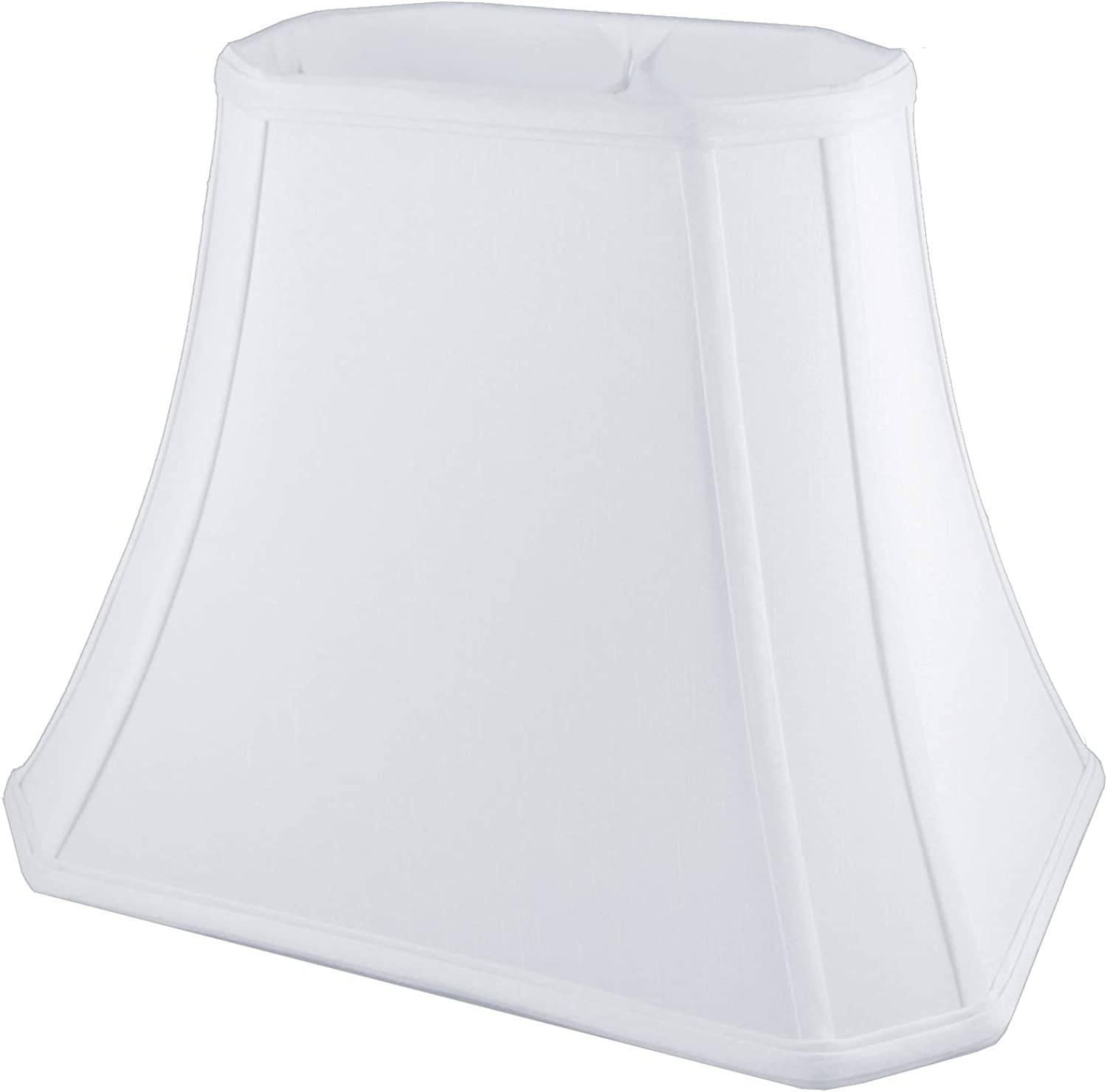 American Pride (5.5 x8.5 ) x (10.5 x15 ) x 11.25  Rectangle Soft Shantung Tailored Lampshade, White