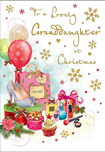 Traditional Christmas Card Granddaughter - 9 x 6 inches - Regal Publishing