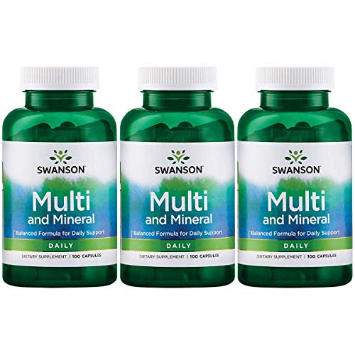 Swanson Multi and Mineral Daily Men's Women's Multivitamin Multimineral Health Supplement 100...