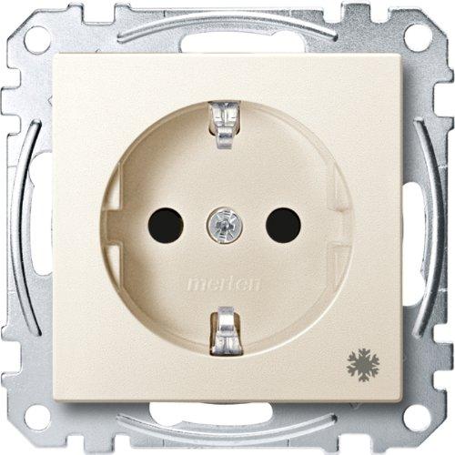Merten MEG2354-0444 SCHUKO-stopcontact met aanduiding koelkast, BRS, steekklemmen, wit, systeem M