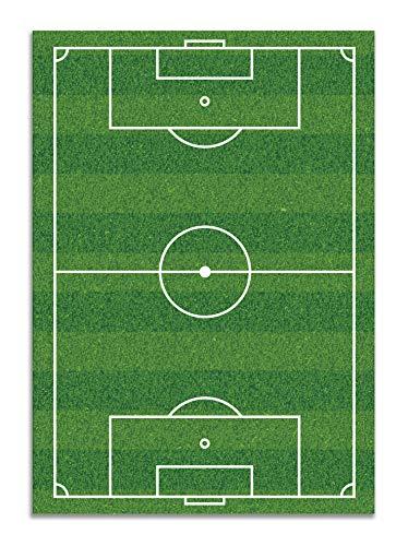 Panorama Alfombra Vinílica Campo de Fútbol 120x170 cm - Alfombra Infantil Vinilo - Alfombra Salón Antideslizante, Antihongos e Ignífuga - Alfombras Grandes - Alfombras PVC